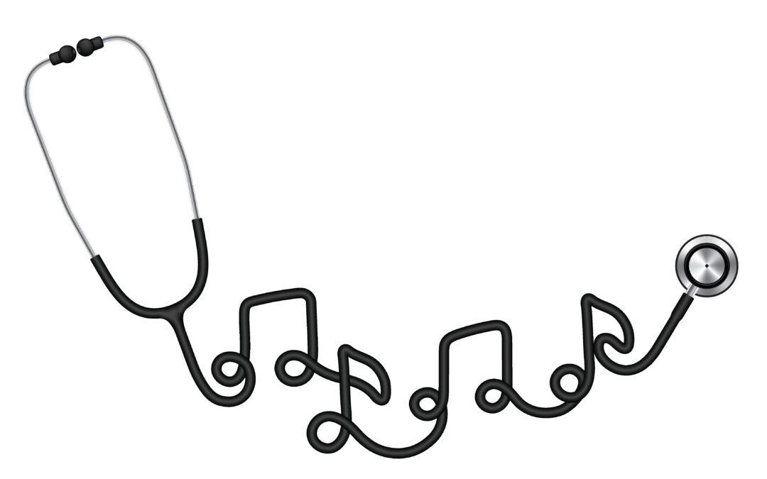stetoscopio il cui filo forma note musicali